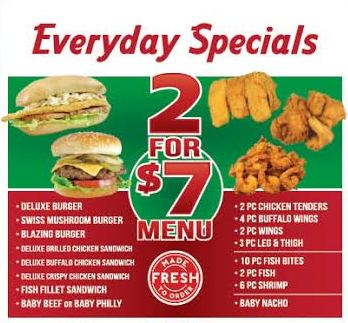 2 for $7 Daily Special
