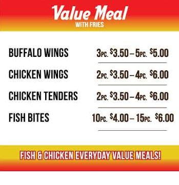 Value Meal Specials